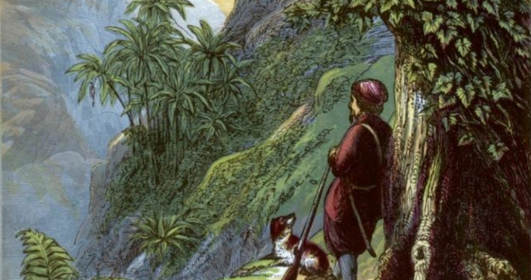 Illustration du Robinson Crusoe de 1865 par Groombridge and Sons edition